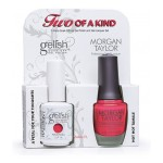 Gelish + MT A Petal For Your Thoughts + Hot Hot Tamale (DUO)
